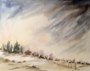 Paysage aux dunes