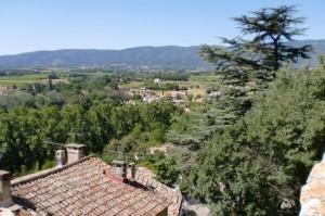 depuis Ansouis, vue sur la vallée